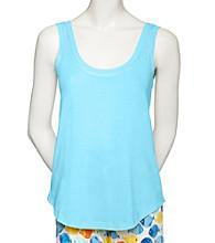 HUE® Knit Tank - Blue Atoll