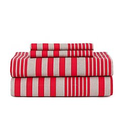 Tommy Hilfiger® Seaport Stripe Cherry Sheet Set
