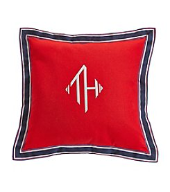 Tommy Hilfiger® Monogram Grosgrain Flange Mars Red Pillow