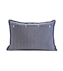 Tommy Hilfiger® Navy Herringbone Check Pillow