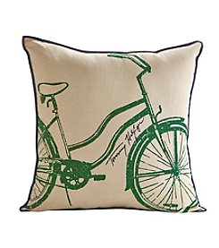 Tommy Hilfiger® Bicycle Green and Blue Pillow