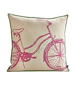Tommy Hilfiger® Bicycle Pink and Peapod Pillow