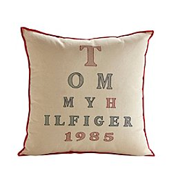 Tommy Hilfiger® Cream and Red Letters Pillow