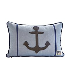 Tommy Hilfiger® Embroidered Anchor Blue and Navy Pillow