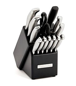 KitchenAid® 14-pc. Brushed Stainless Steel with Endcap Cutlery Set