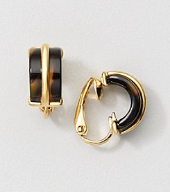 Lauren Ralph Lauren® Tortoise Resin Clip Earrings