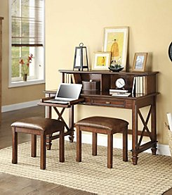 Whalen Belmar Writing Desk & 2 Stools