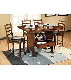 Whalen Furniture Cumberland Counter Height Dining Collection