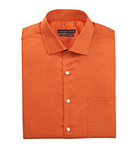 Geoffrey Beene® Men's Orange Long Sleeve 'No-Iron' Dress Shirt