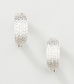 Studio Works® Silvertone Post Top Hoop Earrings