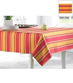 J.Queen New York Coral Stripe Table Linens