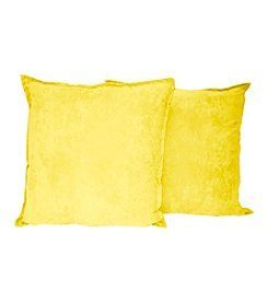 Hudson Street Faux Suede 2-pk. Decorative Pillows