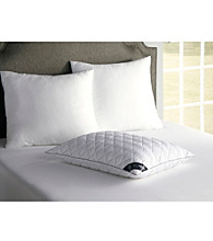 BEHRENS England® Diamond Quilt Cotton Damask Stripe Pillow with Satin Cording