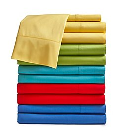 Fiesta® Solid 300-Thread Count Cotton Sheet Set