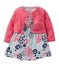 Carter's® Baby Girls' Pink/Navy 2-pc. Floral Dress Set *