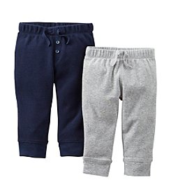 Carter's® Baby Boys' Navy / Grey Two-Pack Pull-On Pants *