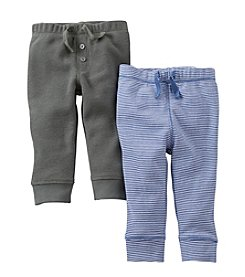 Carter's® Baby Boys' Olive / Blue Two-Pack Pull-On Pants