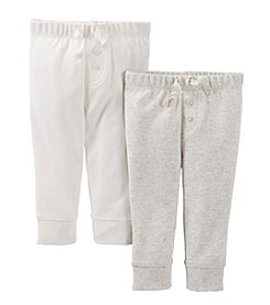 Carter's® Baby Ivory / Grey Two-Pack Pants