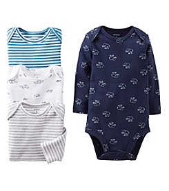 Carter's® Baby Boys' Assorted Four-Pack Long Sleeve Animal Bodysuits