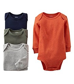 Carter's® Baby Boys' Assorted 4-pk. Long Sleeve Heather Bodysuits