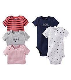Carter's® Baby Boys' Assorted 5-pk. Short Sleeve First Mate Bodysuits