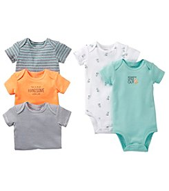 Carter's® Baby Boys' Assorted 5-pk. Short Sleeve Multi Print Bodysuits