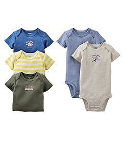 Carter's® Baby Boys' Assorted 5-pk. Short Sleeve Vintage Bodysuits