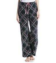 HUE® Knit Pants - Black/Multi Scripted Path