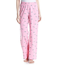 HUE® Knit Pants - Aurora Pink Kiss the Pooch