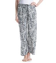 HUE® Knit Pants - Grey/Ivory Zebra Patch