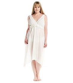 Flora Nikrooz Plus Size Chiffon High Low Gown