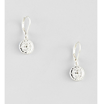 Nine West Vintage America Collection® Leverback Silvertone Coin Drop Earrings plus size,  plus size fashion plus size appare