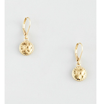 Nine West Vintage America Collection® Leverback Goldtone Coin Drop Earrings