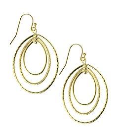 Napier® Goldtone Metal Open Orbital Drop Earrings