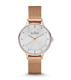 Skagen Denmark Women's Anita Watch in Rose Goldtone Mesh