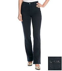 Laura Ashley® Black Rinse Boot Cut Jeans