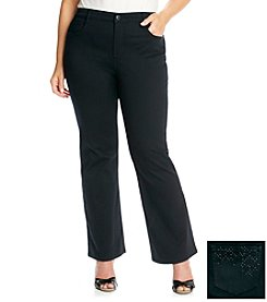 Laura Ashley® Plus Size Jet Black Bootcut Jean