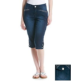 One 5 One® Studded Flap Pocket Capri