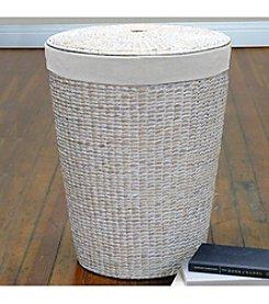 LaMont Home® Makatea White Round Hamper