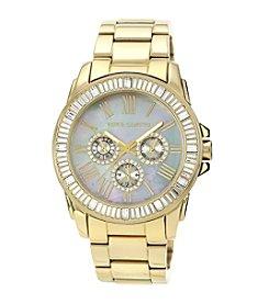 Vince Camuto™ Women's Goldtone Bracelet with Baguette Crystal Bezel