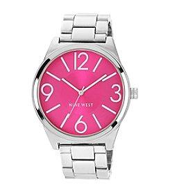 Nine West® Women's Colored Dial Bracelet Watch