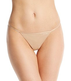 Calvin Klein Sleek String Thong - Bare