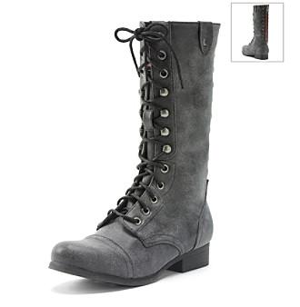"Madden Girl ""Galeria"" Studded Combat Boots Women's"