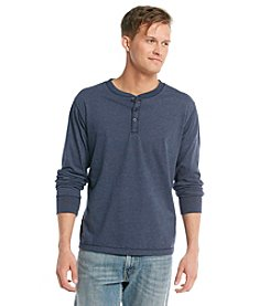 Ruff Hewn Men's Long Sleeve Sueded Jersey Henley Shirt