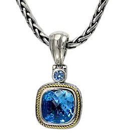 Effy® Balissima 18K Yellow Gold/Silver Blue Topaz Pendant Necklace
