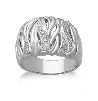 0.10 ct. t.w. Diamond Band Ring in Sterling Silver