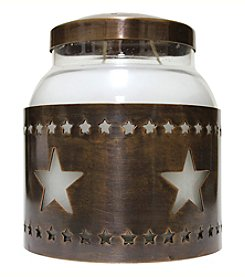 A Cheerful Giver Copper Star Candle Sleeve