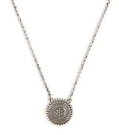 Lucky Brand® Silvertone Tribal Pendant Necklace