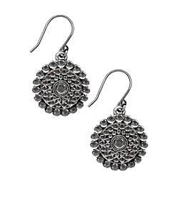 Lucky Brand® Silvertone Tribal Drop Earrings