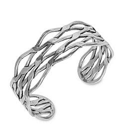 Lucky Brand® Silvertone Metal Cuff Bracelet
